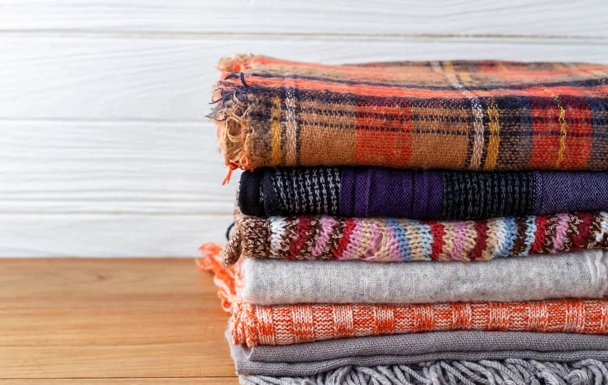 Blankets in different sizes